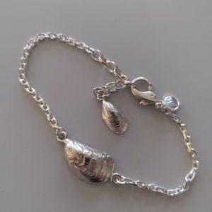 Musselsbracelet-silver