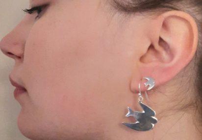 Svale øredobber heng – Swollow earrings